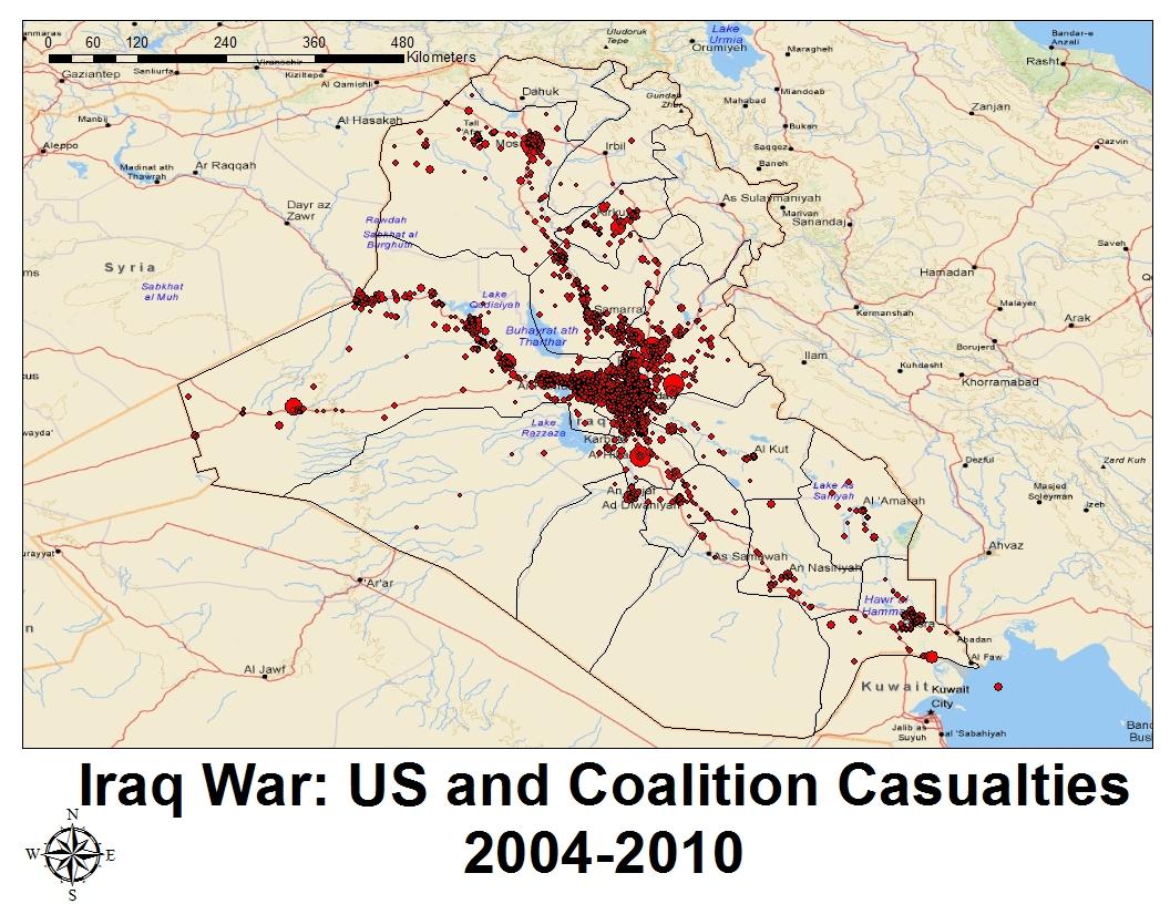 Wikileaks Iraq War Diary Part Freewheel Burning - Map showing us and iraq