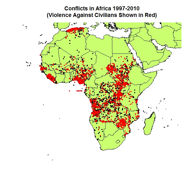 Map Of Africa 2010.Acled Database Conflicts In Africa 1997 2010 Freewheel Burning
