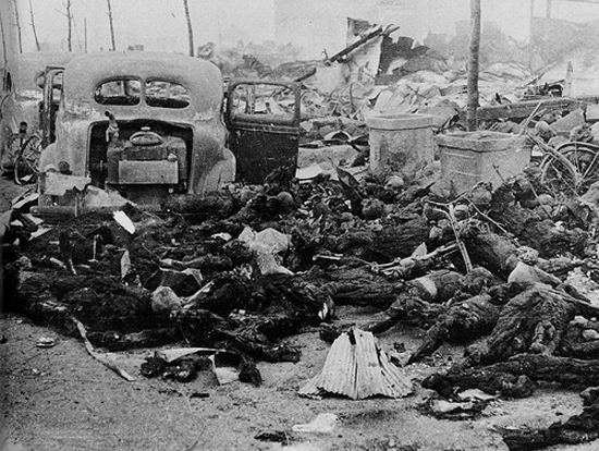Dead people in Hiroshima in WW2