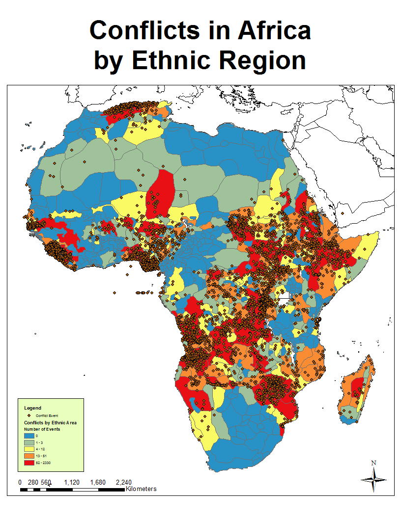 African Conflict and the Murdock Map of Ethnic Boundaries