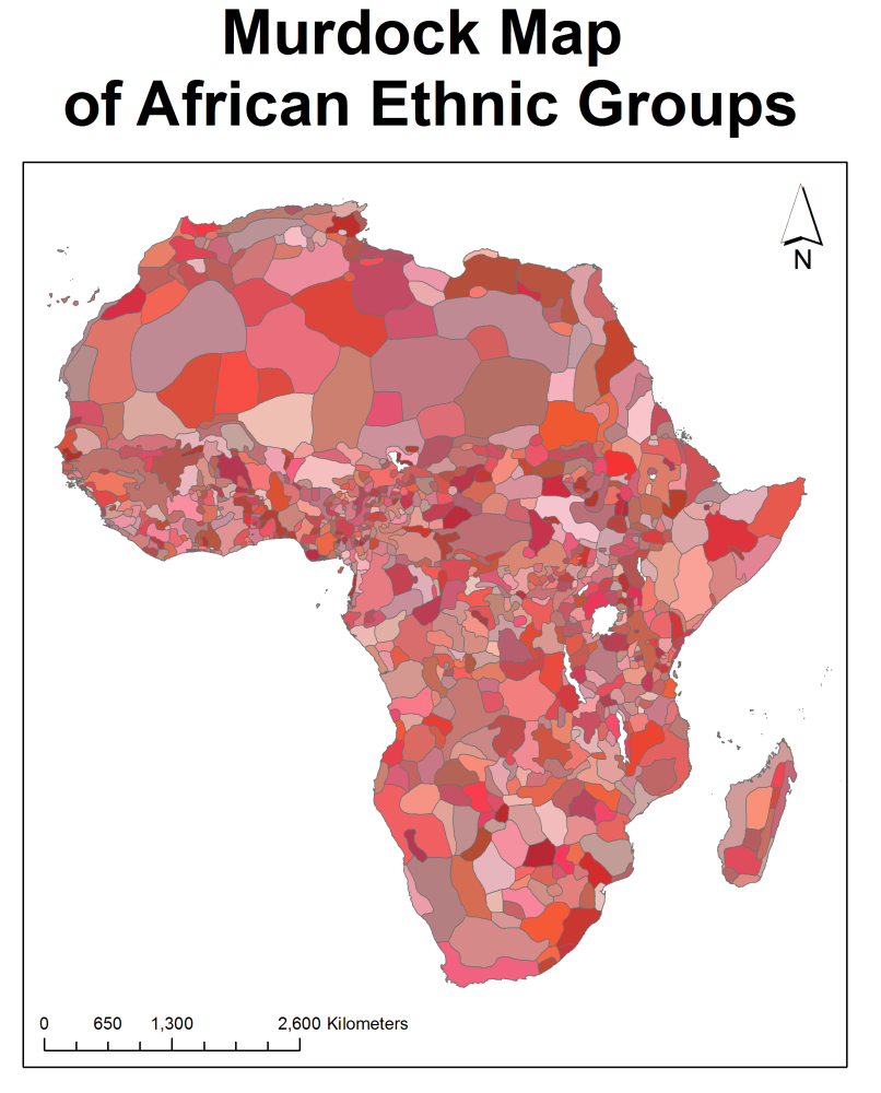 African Conflict and the Murdock Map of Ethnic Boundaries (6/6)
