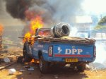 DPP Vehicle in Flames