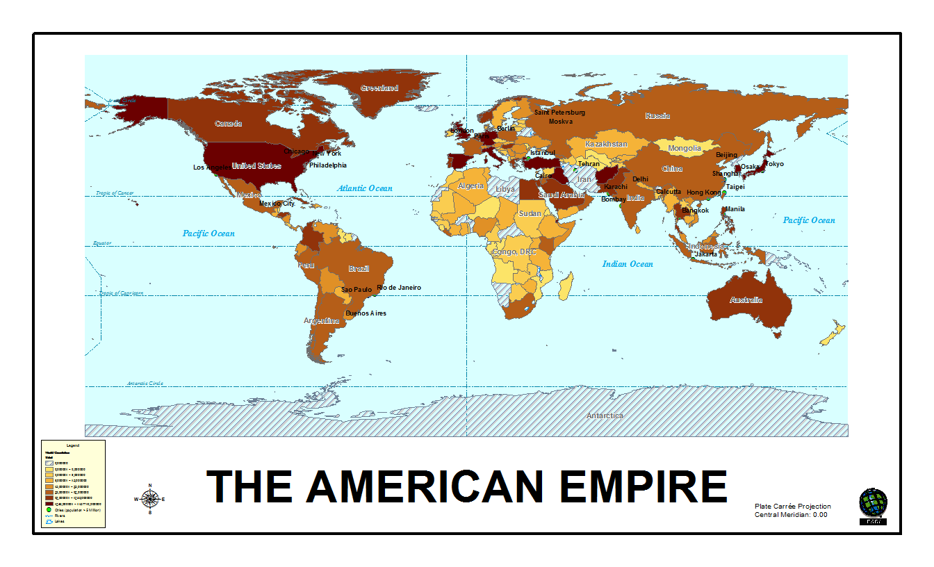 The American Empire Freewheel Burning - Map Of All Us Military Bases In The World