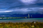 Storm over Mackinac Bridge