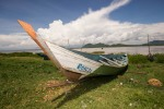 Boat on Lake Victoria shore