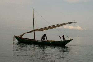 FIsherman along Lake Victoria