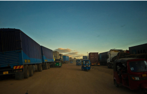 Taken near Tunduma. Trucks carrying goods to and from the DRC.