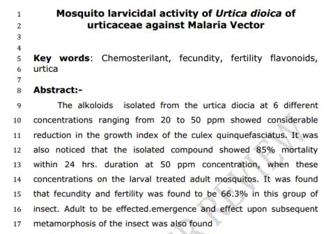 MalariaVector
